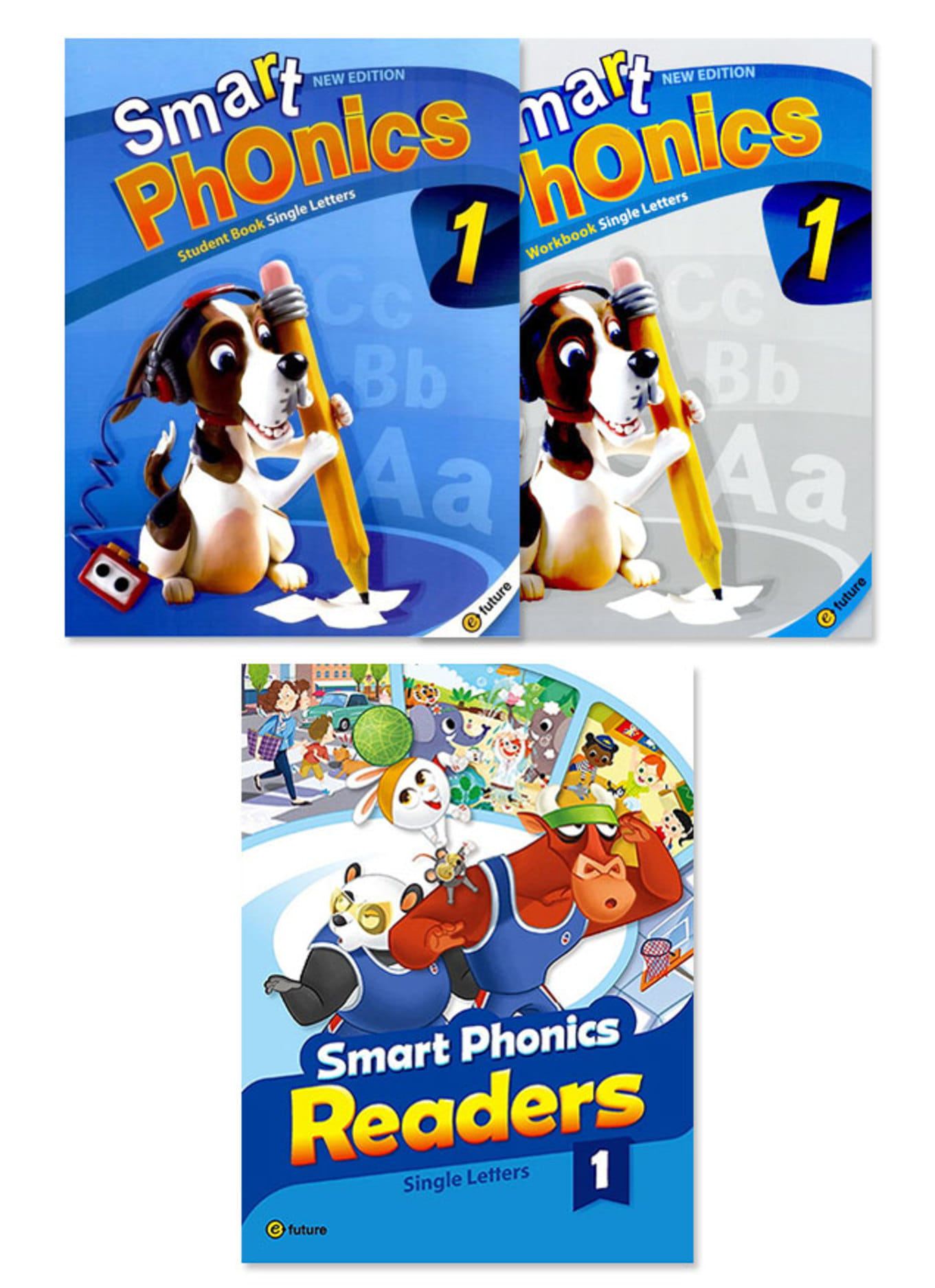 Smart Phonics SB+WB+Readers Combined Version Set (각 레벨 3종)