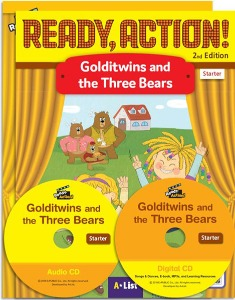 Ready, Action! Starter :Golditwins and the Three Bears Pack [Drama Book (with Audio CD+Digital CD)+Workbook]
