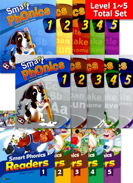 Smart Phonics Full Set + Readers Combined Version (1~5) Set