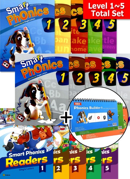 Smart Phonics Full Set + Readers Combined Version Set + Phonics Builder Set