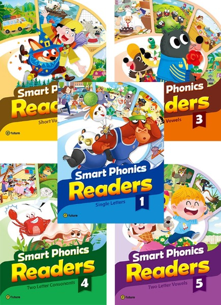 Smart Phonics Readers 1 ~ 5 Set (Combined Version)